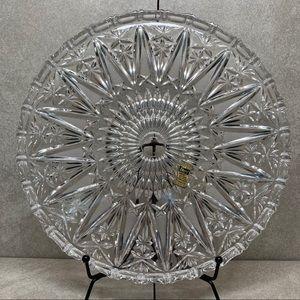 "Empoli genuine lead hand cut crystal 10"" plate"